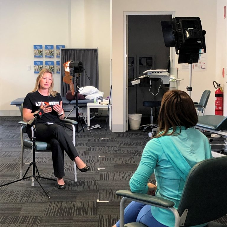 Channel 7 interview re PD Warrior at Royal Rehab