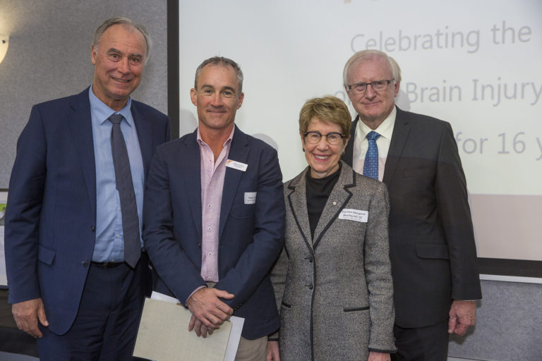 Noel with Vice Regal couple and John Alexander MP at 2019 Wall of Fame Ceremony